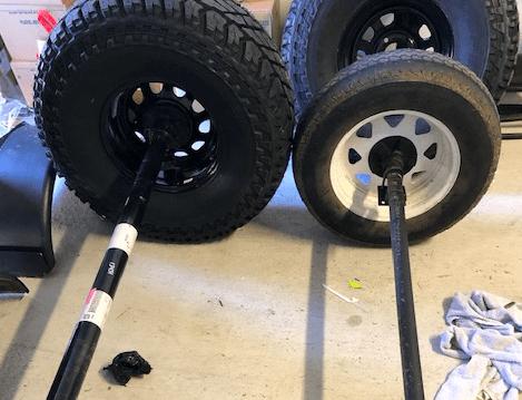 Offroad trailer axle