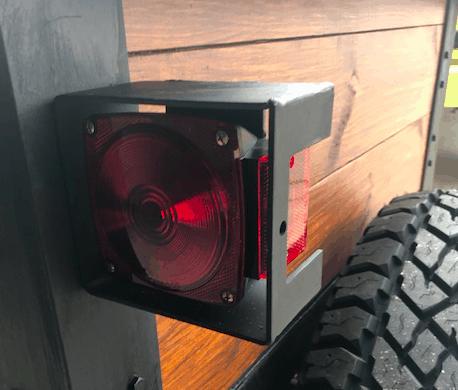 Overland trailer light guard.