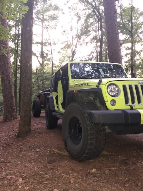 Jeep at Tyler State Park.