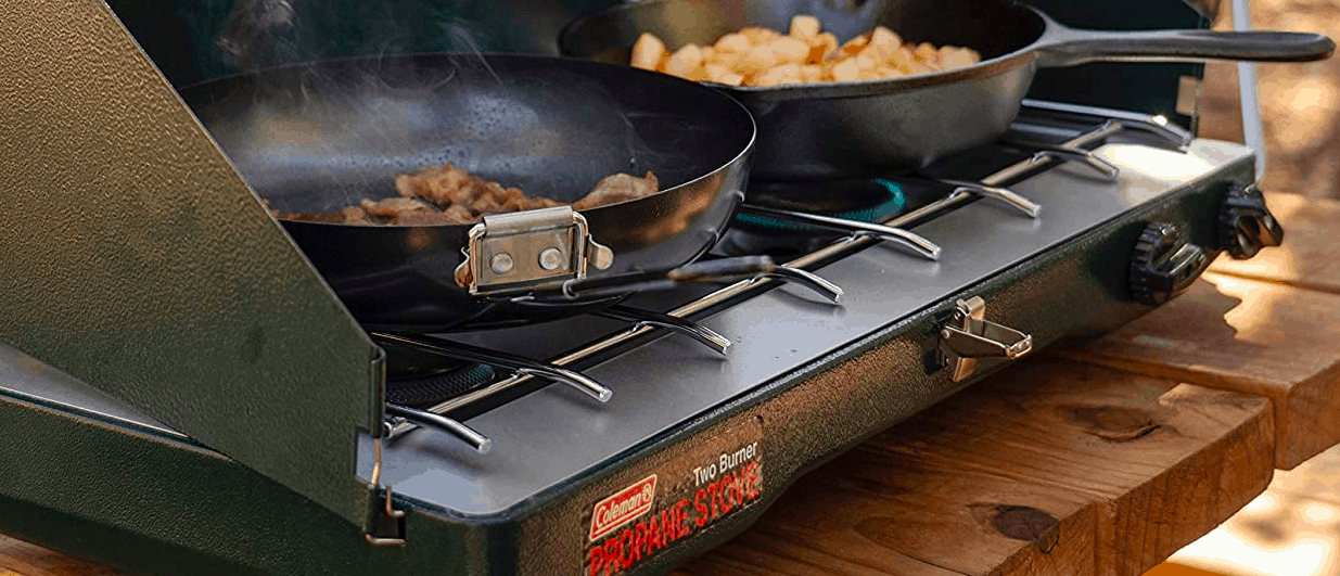 A camping gift for him, a stove.