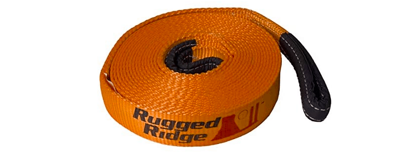 A tow strap used for recovery.