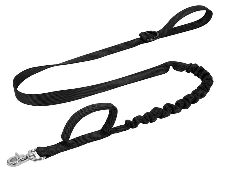 Tactical dog leash in green.