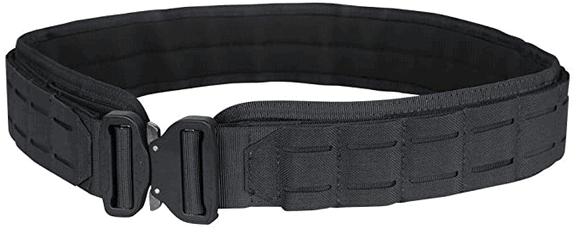 Black tactical gun belt.