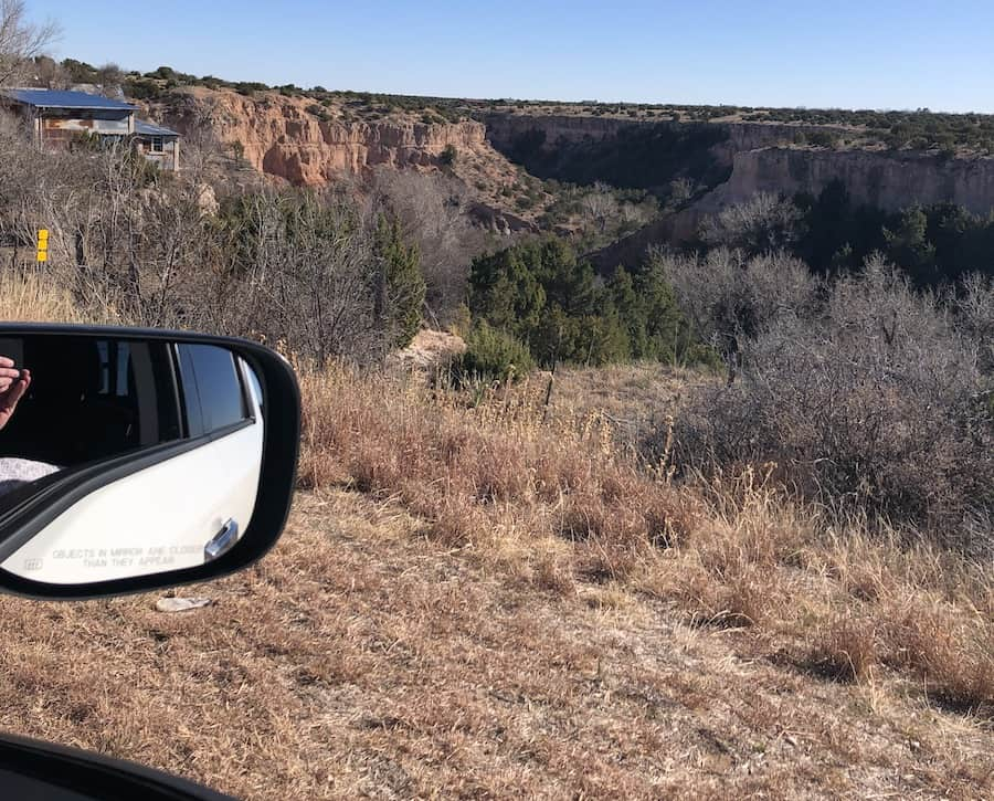 A picture just outside of Palo Duro Canyon