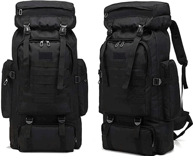 80L Military style tactical backpack.